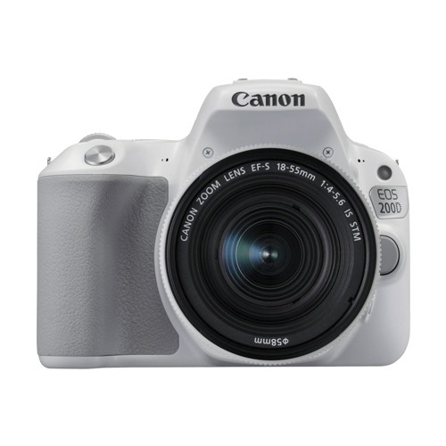 Canon DSLR Camera EOS 200D with EF-S 18-55mm Lens - White