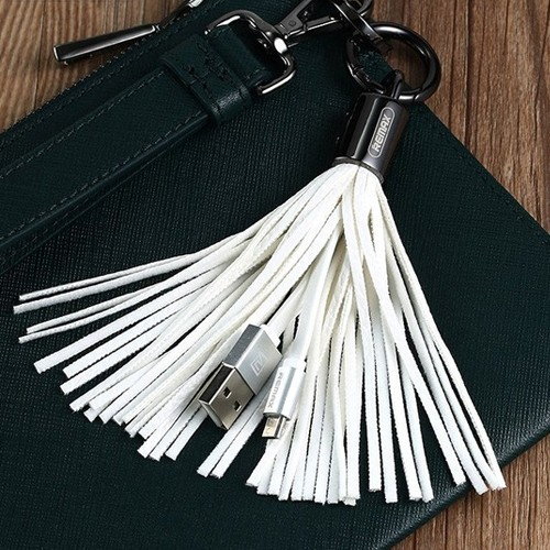 Remax Ring Keychain Micro USB Cable RC-053M - White