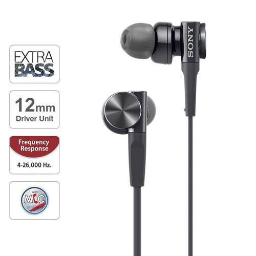 Sony In-Ear Headphone Extra Bass XB75AP/B - Black