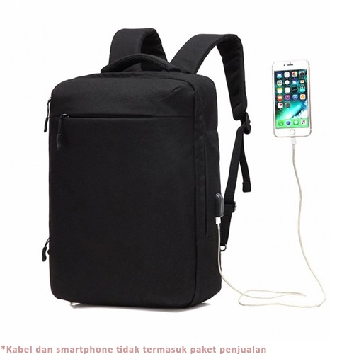 Ozuko Backpack Laptop Waterproof Anti-Theft with USB Charging Port 17.3 Inch (8904)