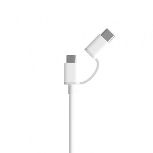 Xiaomi Cable Data 2 in 1 Micro USB & USB-C 30 cm - White