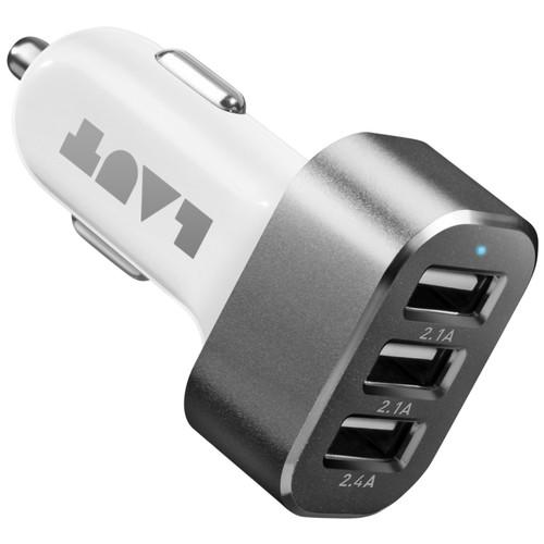 LAUT Powerdash 6.6 Amp Car Charger - White