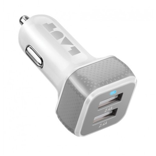 HOLIDAY SALE - LAUT Powerdash 4.8 Amp Car Charger - White