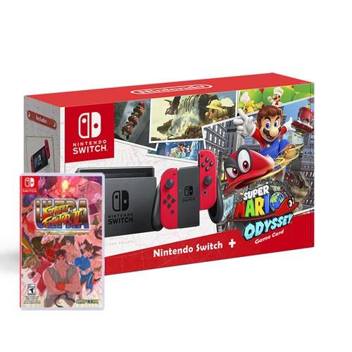Nintendo Switch Bundle Super Mario Odyssey + Ultra Street Fighter
