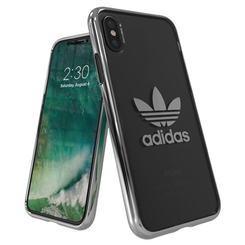 Adidas Trefoil Clear Case for iPhone X - White Logo