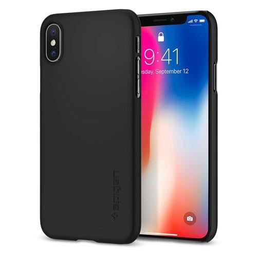 Spigen Thin Fit Case for iPhone X - Matte Black