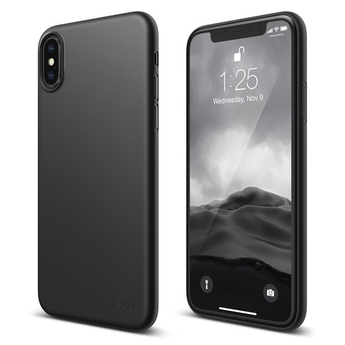 Inner Core for iPhone X (FREE TEMPERED GLASS) - Black