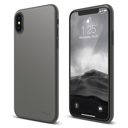 Inner Core for iPhone X (FREE TEMPERED GLASS) - Dark Grey