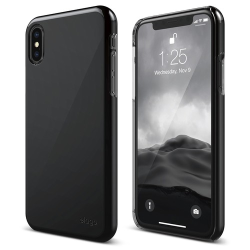 Slimfit 2 Series for iPhone X (FREE TEMPERED GLASS) - Black