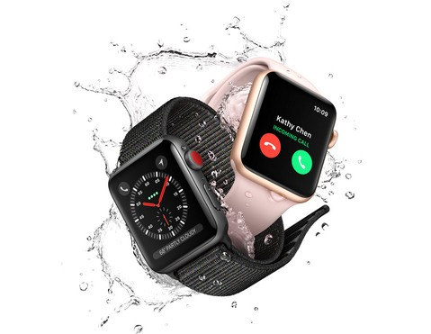 Apple Watch Series 3 GPS 42mm Gold Aluminum Case with Pink Sand Sport Band - MQL22ID/A