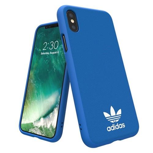 Adidas Basic Logo Case for iPhone X - Bluebird White