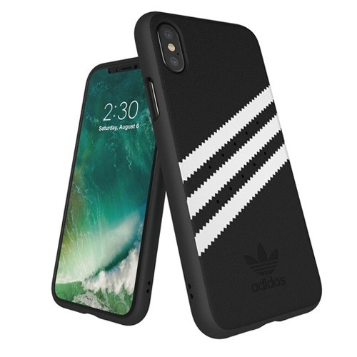 Adidas Suede Moulded Case for iPhone X - Black White