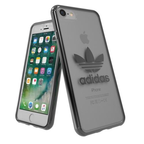 Adidas Trefoil Clear Case for iPhone 8 - Gunmetal Logo