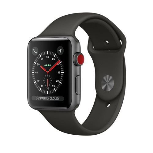 Apple Watch Series 3 GPS 38mm Space Gray Aluminum Case with Gray Sport Band - MR352ID/A