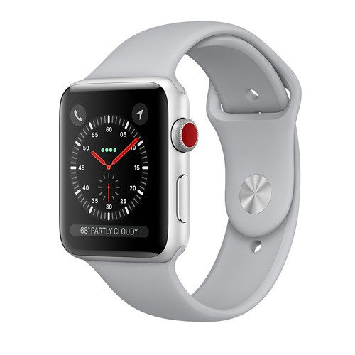 Apple Watch Series 3 GPS 42mm Silver Aluminum Case with Fog Sport Band - MQL02ID/A