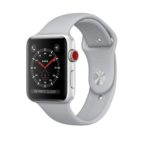 Apple Watch Series 3 GPS 38mm Silver Aluminum Case with Fog Sport Band - MQKU2ID/A