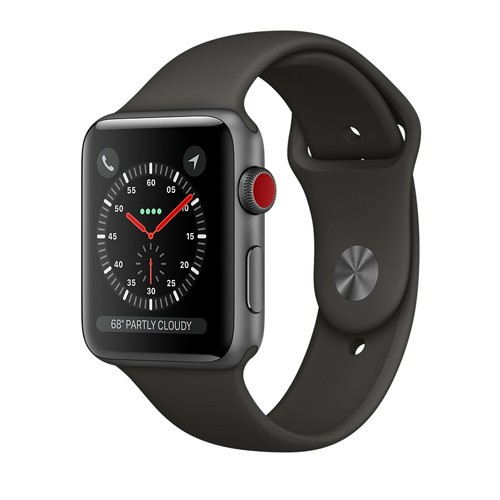 Apple Watch Series 3 GPS 42mm Space Gray Aluminum Case with Gray Sport Band - MR362ID/A