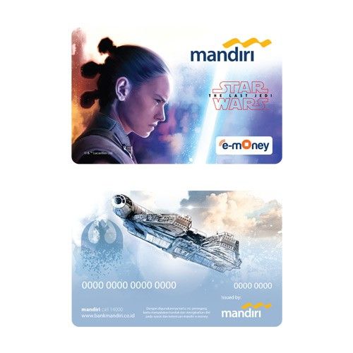 Mandiri e-Money Star Wars The Last Jedi - Rey