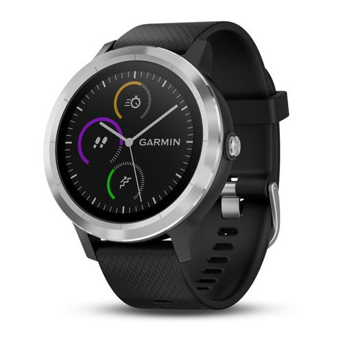 Garmin VivoActive 3 SEA Silicone Stainless Steel - Black/Black