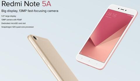 Xiaomi Redmi Note 5A - Gold
