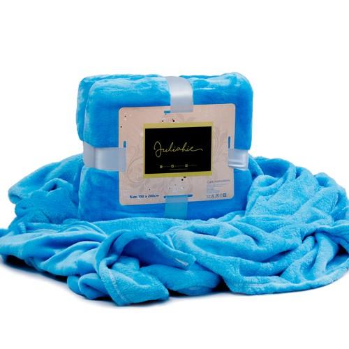 Juliahie Acrylic Blanket Solid - Cyan