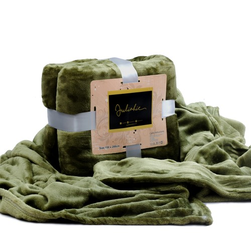 Juliahie Acrylic Blanket Solid - Green