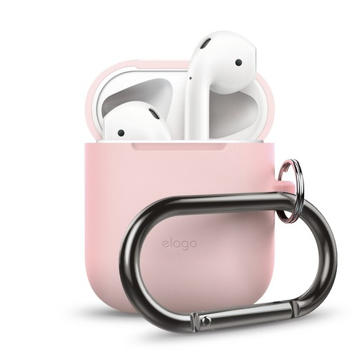 ELAGO Airpods Hang Case with Silicone Case - Lovely Pink