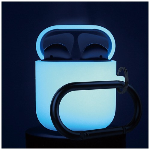 ELAGO Airpods Hang Case with Silicone Case - Night Glow Blue