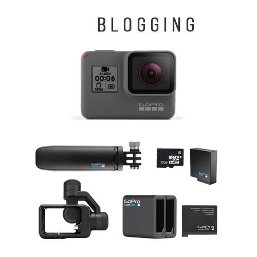 GoPro Hero6 + Accessories for Blogging