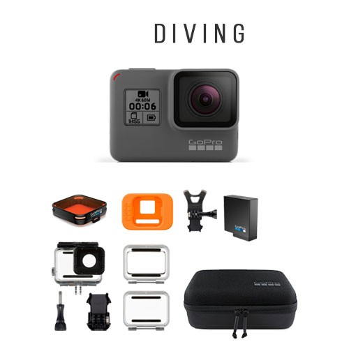GoPro Hero6 + Accessories for Diving