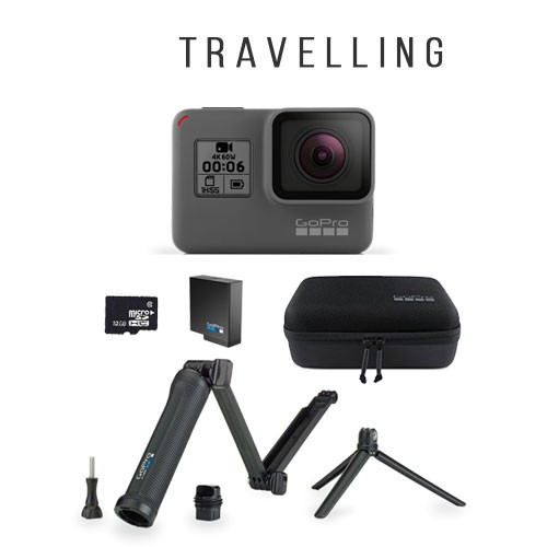 GoPro Hero6 + Accessories for Travelling