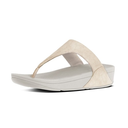 Fitflop Shimmy Suede Toe Post, Pale Gold, (7)