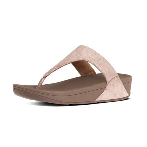 Fitflop Shimmy Suede Toe Post, Rose Gold, (9)