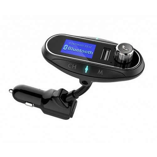 Multifunction Bluetooth Car Charger with FM Transmitter & Wireless Audio Receiver T12