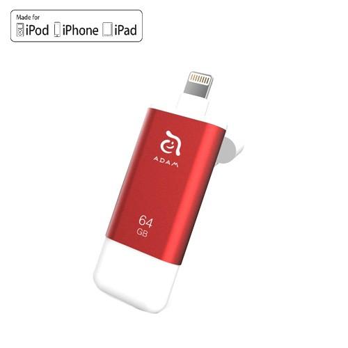 Adam Elements Iklips II Apple Lightning Flash Drive 64 GB - Red