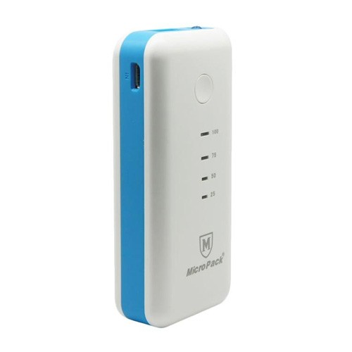 MicroPack Power Bank 5200 mAh P5200 - White Blue