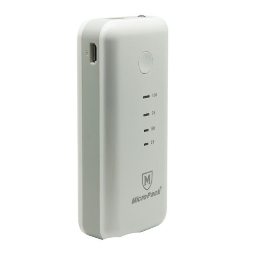 MicroPack Power Bank 5200 mAh P5200 - White Grey