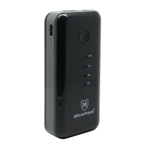 MicroPack Power Bank 5200 mAh P5200 - Black Grey