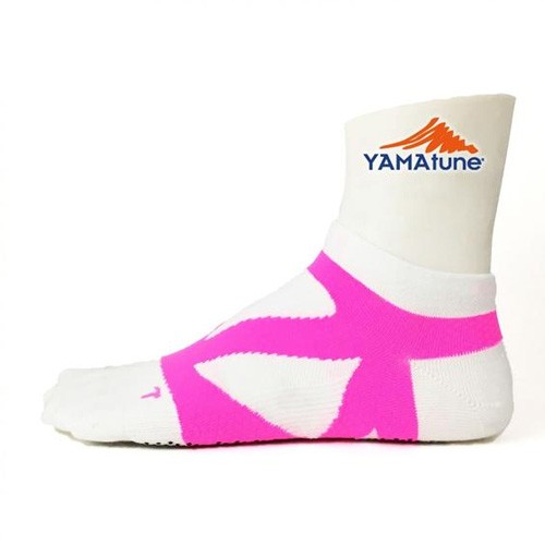 Yamatune Spider Arch Support 5 Toe Size 23-25cm  - White Pink