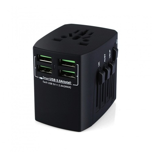 Universal Travel Adapter with 4 Smart USB Charging Port 5A BST-631