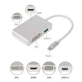 4 in 1 Type C to HDMI VGA D