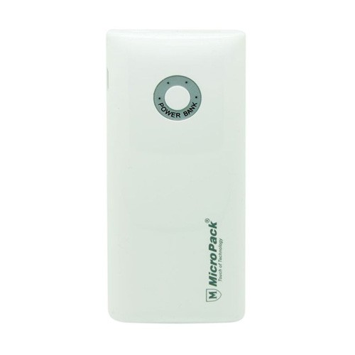 MicroPack Power Bank 6000mAh P6000U - White