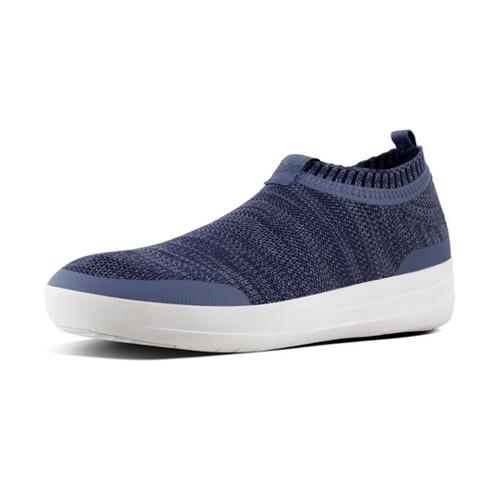 Fitflop Uberknit Slip-On Sneaker, Indian Bl/Powder Bl, (5)