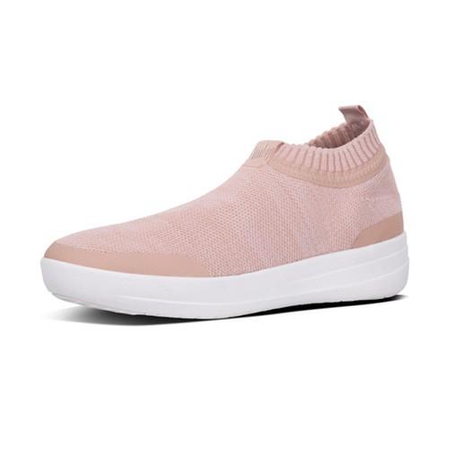Fitflop Uberknit Slip-On Sneaker - Neon Blsh/Urban Wt, (5)