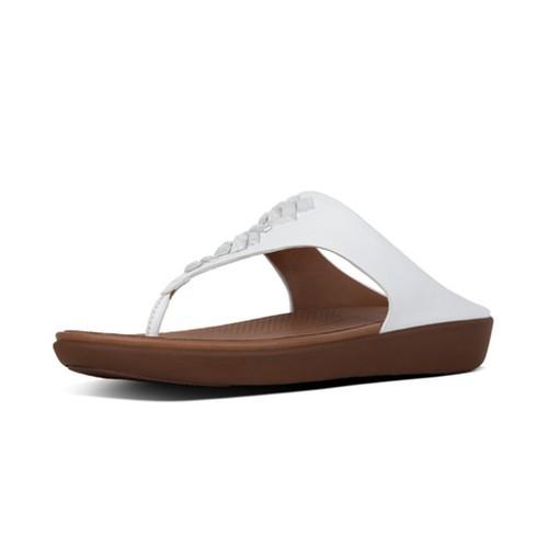 Fitflop Banda Leather Toe Thong, Urban White, (8)