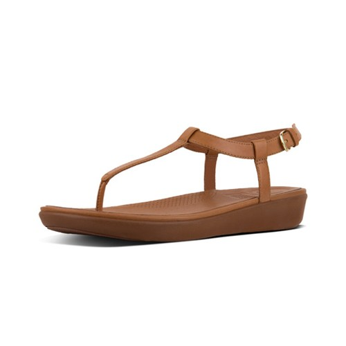 Fitflop Tia Toe Thong Sandal - Caramel, (6)