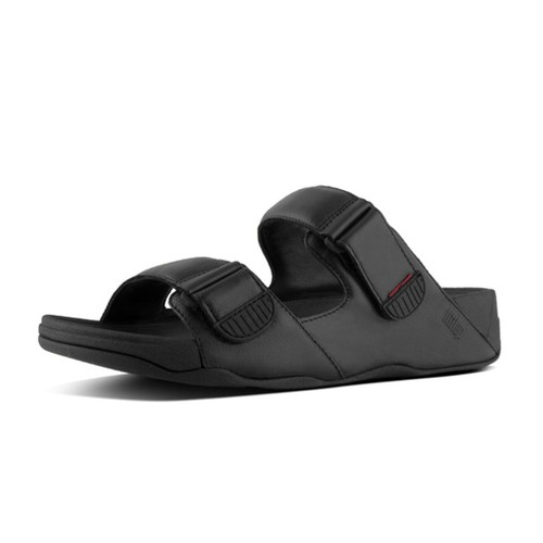 Fitflop Gogh Moc Slide In Leather, Black, (12)