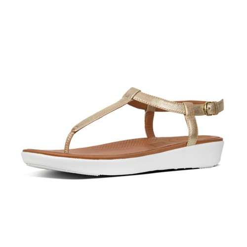 Fitflop Tia Toe Thong Sandal - Pale Gold, (8)