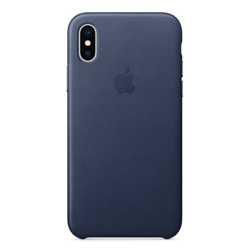 Apple Leather Case for iPhone X - Midnight Blue