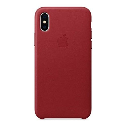 Apple Leather Case for iPhone X - Red